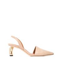 Zapatos de tacón de ante en beige de Rejina Pyo