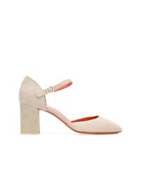 Zapatos de tacón de ante en beige de Santoni