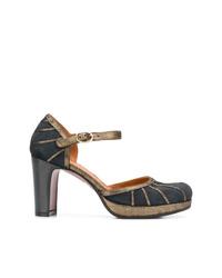 Zapatos de Tacón de Ante Gris Oscuro de Chie Mihara