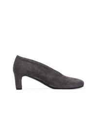 Zapatos de Tacón de Ante Gris Oscuro de Del Carlo