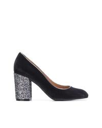 Zapatos de Tacón de Ante Gris Oscuro de Pollini