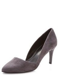 Zapatos de tacón de ante en gris oscuro de Rebecca Minkoff