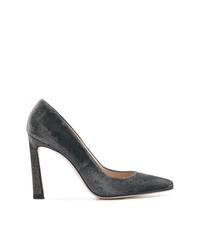Zapatos de Tacón de Ante Gris Oscuro de Stuart Weitzman