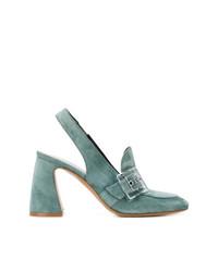 Zapatos de tacón de ante en verde menta de Premiata