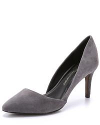 Zapatos de Tacón de Ante Gris Oscuro de Rebecca Minkoff