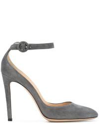 Zapatos de Tacón de Ante Grises de Gianvito Rossi