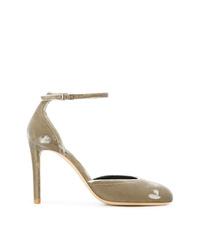 Zapatos de tacón de ante grises de Giorgio Armani