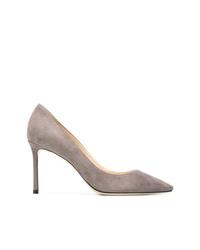 Zapatos de tacón de ante grises de Jimmy Choo