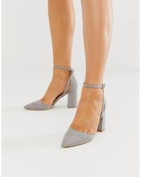Zapatos de tacón de ante grises de RAID