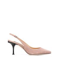 Zapatos de Tacón de Ante Marrón Claro de Sergio Rossi