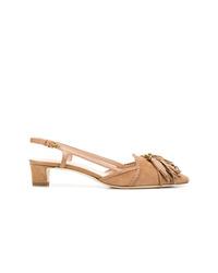 Zapatos de tacón de ante marrón claro de Tod's