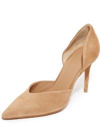 Zapatos de tacón de ante marrón claro de Vince