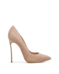 Zapatos de tacón de ante marrónes de Casadei