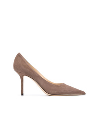 Zapatos de tacón de ante marrónes de Jimmy Choo