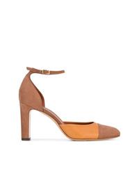 Zapatos de tacón de ante marrónes de Michel Vivien