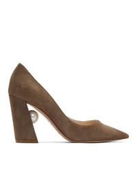 Zapatos de tacón de ante marrónes de Nicholas Kirkwood