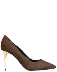Zapatos de tacón de ante marrónes de Tom Ford
