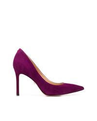 Zapatos de tacón de ante morado oscuro de Sam Edelman