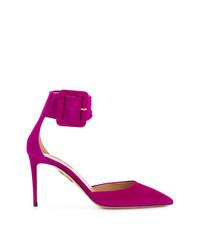 Zapatos de Tacón de Ante Morado de Aquazzura