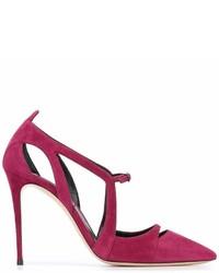 Zapatos de Tacón de Ante Morado de Casadei