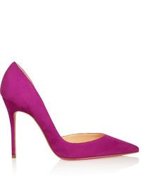 Zapatos de Tacón de Ante Morado de Christian Louboutin