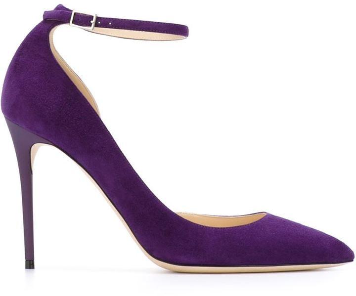 ad0f867e4ca96 Zapatos de Tacón de Ante Morado de Jimmy Choo  dónde comprar y cómo ...