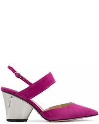 Zapatos de Tacón de Ante Morado de Paul Andrew