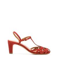 Zapatos de Tacón de Ante Naranjas de Chie Mihara