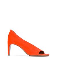 Zapatos de Tacón de Ante Naranjas de David Beauciel