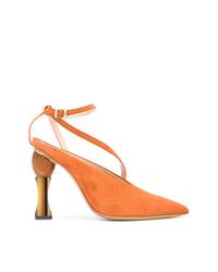 Zapatos de Tacón de Ante Naranjas de Jacquemus