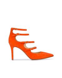 Zapatos de Tacón de Ante Naranjas de Marion Parke