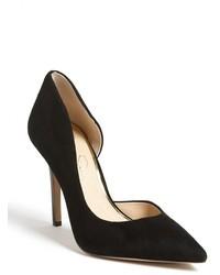 Zapatos de Tacón de Ante Negros