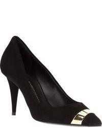Zapatos de Tacón de Ante Negros y Dorados de Giuseppe Zanotti