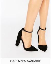 Zapatos de Tacón de Ante Negros de Asos