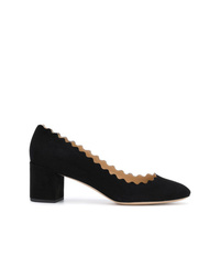 Zapatos de tacón de ante negros de Chloé