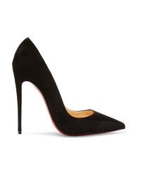 Zapatos de tacón de ante negros de Christian Louboutin
