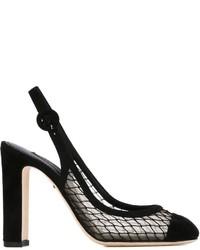 Zapatos de Tacón de Ante Negros de Dolce & Gabbana