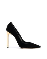 Zapatos de tacón de ante negros de Dsquared2