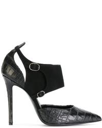 Zapatos de tacón de ante negros de Ermanno Scervino