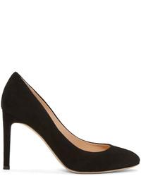 Zapatos de tacón de ante negros de Giuseppe Zanotti