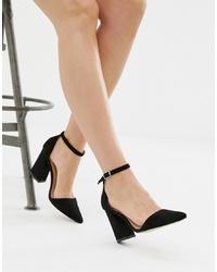 Zapatos de tacón de ante negros de Glamorous