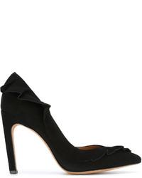 Zapatos de tacón de ante negros de IRO