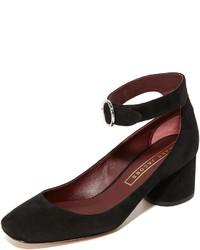 Zapatos de tacón de ante negros de Marc Jacobs