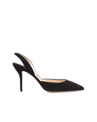 Zapatos de tacón de ante negros de Paul Andrew