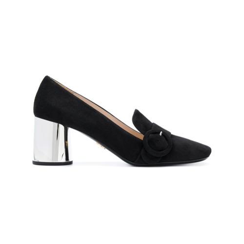 Zapatos de tacón de ante negros de Prada