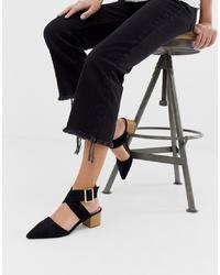 Zapatos de tacón de ante negros de RAID