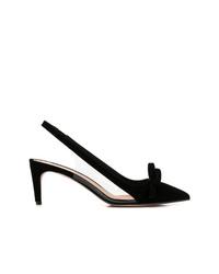 Zapatos de Tacón de Ante Negros de RED Valentino