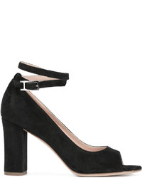 Zapatos de Tacón de Ante Negros de Unützer