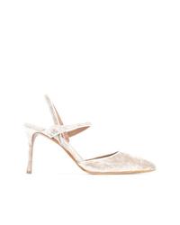 Zapatos de Tacón de Ante Plateados de Tabitha Simmons