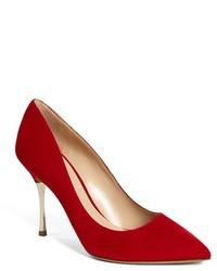 Zapatos de Tacón de Ante Rojos